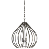 Camille 3 Light 24 inch Black Iron Pendant Ceiling Light