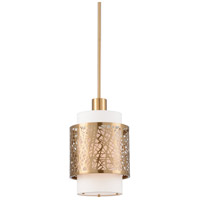 Web 1 Light 12 inch Antique Brass Pendant Ceiling Light