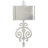 Lucia 2 Light 14 inch Antique Silver Leaf Sconce Wall Light