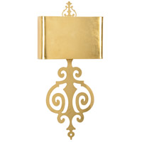 Lucia 2 Light 14 inch Antique Gold Leaf Sconce Wall Light