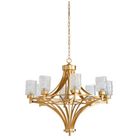 Urbano 8 Light 35 inch Gold Leaf Chandelier Ceiling Light