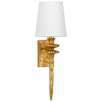 Saxon 1 Light 4 inch Antique Gold Leaf Sconce Wall Light