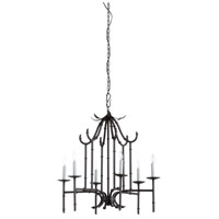 Draper 6 Light 27 inch Charcoal Chandelier Ceiling Light