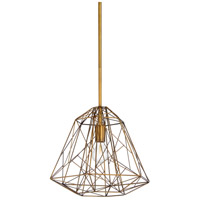 Circe 1 Light 16 inch Antique Brass Pendant Ceiling Light