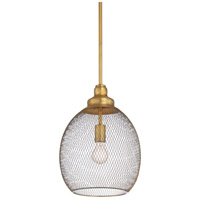 Colton 1 Light 11 inch Antique Brass Pendant Ceiling Light