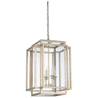 67179 Wildwood Wildwood 4 Light 17 inch Antique Silver Leaf and Clear Chandelier Ceiling Light