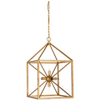 Wildwood 67180 Portsmith 6 Light 17 inch Antique Gold Leaf Chandelier Ceiling Light
