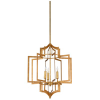 Dover 3 Light 18 inch Antique Gold Leaf Chandelier Ceiling Light