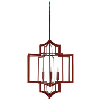 Dover 3 Light 18 inch Red Chandelier Ceiling Light