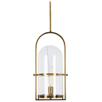 Rutledge 1 Light 11 inch Antique Brass and Clear Pendant Ceiling Light