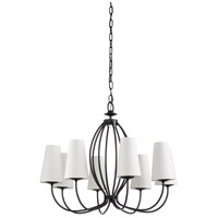 67199 Wildwood Wildwood 8 Light 29 inch Satin Black Chandelier Ceiling Light