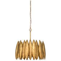 Wildwood 67200 Ryland 4 Light 21 inch Antique Gold Leaf Chandelier Ceiling Light