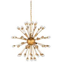 Wildwood 67204 Saturn 12 Light 29 inch Antique Gold Leaf Chandelier Ceiling Light