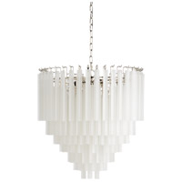 67211 Wildwood Wildwood 9 Light 25 inch Polished Nickel/Frosted Chandelier Ceiling Light