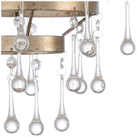 Wildwood 67229 Ansley 8 Light 22 inch Antique Silver Leaf and Clear Chandelier Ceiling Light alternative photo thumbnail