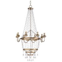 67229 Wildwood Wildwood 8 Light 22 inch Antique Silver Leaf and Clear Chandelier Ceiling Light