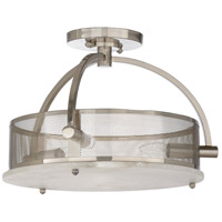 67233 Wildwood Wildwood 3 Light 16 inch Natural White Semi Flush Mount Ceiling Light