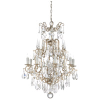 67237 Wildwood Wildwood 8 Light 31 inch Antique Silver Leaf and Clear Chandelier Ceiling Light Small