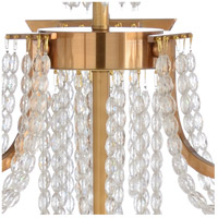 Wildwood 67239 Mackie 9 Light 40 inch Antique Brass and Clear Chandelier Ceiling Light alternative photo thumbnail