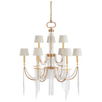 Wildwood 67239 Mackie 9 Light 40 inch Antique Brass and Clear Chandelier Ceiling Light photo thumbnail