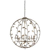 Wildwood 67246 Charlotte 10 Light 41 inch Rustic Silver Leaf Chandelier Ceiling Light