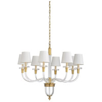 67270 Wildwood Wildwood 8 Light 30 inch Clear and Brass Chandelier Ceiling Light Large