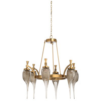 Iron & Antique Brass Glass Chandeliers