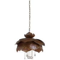Wildwood 67340 Wildwood 6 Light 30 inch Brown/Gold/Clear Pendant Ceiling Light