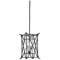 67342 Wildwood Wildwood 4 Light 15 inch Slate Gray/Clear Chandelier Ceiling Light
