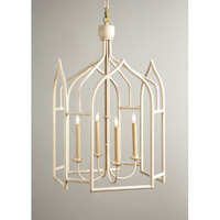 CM 4 Light 23 inch Swedish White Foyer Lantern Ceiling Light