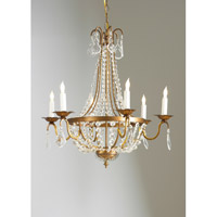 CM 6 Light 25 inch Chandelier Ceiling Light