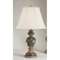 Chelsea House by Wildwood Lamps CM 1 Light Table Lamp in Old Black 68193