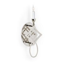 CM 1 Light Polished Nickel Sconce Wall Light