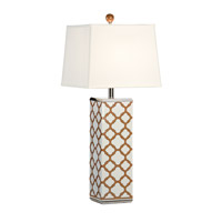 Wildwood 68765 Marie Galloway 34 inch 100 watt Polished Nickel Mounting and Details Table Lamp Portable Light, Chelsea House