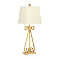 Chelsea House by Wildwood Lamps CM 1 Light Table Lamp in Gold Leaf 68823