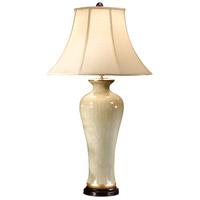 Wildwood Lamps Tall Antique White Table Lamp in Crackle Glazed White Porcelain 6922