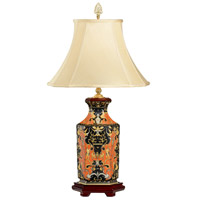 Hex 33 inch 100 watt Hand Painted Table Lamp Portable Light