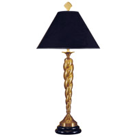 Wildwood Lamps Twistem Stick Table Lamp in Antique Patina Cast Brass 752 photo thumbnail