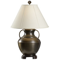 Signature 29 inch 100 watt Oxidized Solid Brass Table Lamp Portable Light