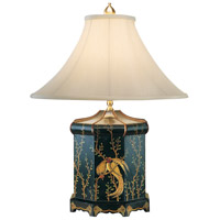 Wildwood Lamps Top Knot Bird Table Lamp in Hand Painted Chinoiserie 7630