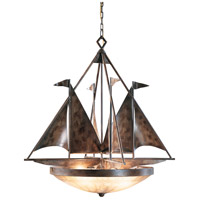 Wildwood Lamps Sailboats Chandelier in Handmade And Finished Iron 7685