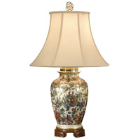 Flowers 31 inch 100 watt Hand Painted Table Lamp Portable Light
