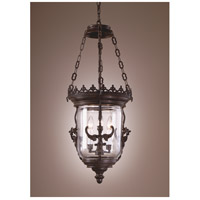 Wildwood Lamps Iron Gargoyles Lantern Hanging Lantern in Matte Finish-Three Lights 7715