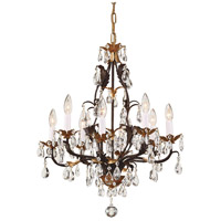 Wildwood Lamps 8 Light Iron Chandelier in Rust And Gold 7717