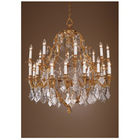 Wildwood Lamps Crystal And Gold Chandelier in French Gold With Lead Crystal 7729 photo thumbnail