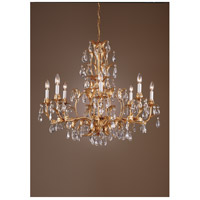 Wildwood Lamps Gold And Crystals Chandelier in Hand Finished And Dressed 7730