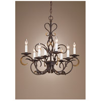 Wildwood Lamps Iron Twist Chandelier in Rust Patina 7744