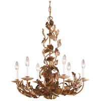 Wildwood Lamps Hiding Cherries Chandelier in Hand Decorated Tuscan Iron 7747