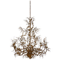 Crystal 10 Light 32 inch Rust Patina On Iron Chandelier Ceiling Light