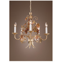 Wildwood Lamps Grapes And Leaves Chandelier in Florentine Ironwork 7754